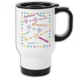 Fractions Travel Mug