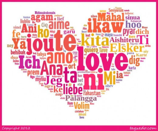 To create this word art I searched for the word love in different languages and just pasted all of the words where it says LOAD. I then added the word LOVE about 10 times by itself; this makes that word appear larger than the others as it appears mor