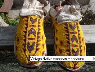 Vintage Native American Regalia Seed Bead Art