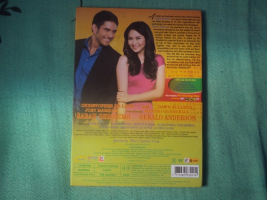 The back view of my dvd copy.