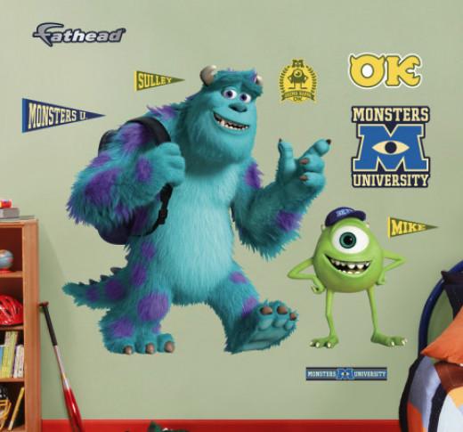 Monsters University Decals