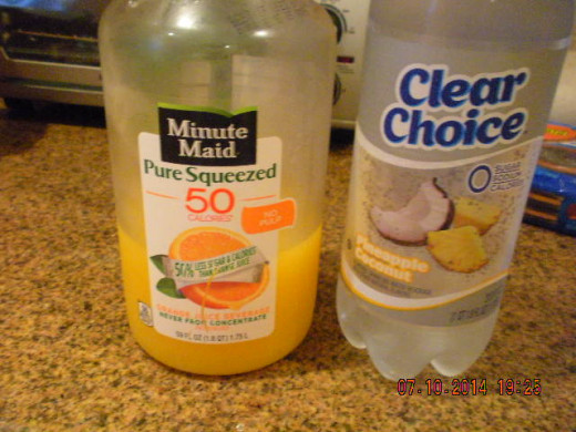add in your fluids.. (juice, sparkling waters, if you want it o be an alcoholic drink whatever your preference