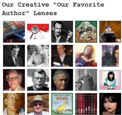 """Featured in the Books Club's 'Our Favorite Authors"""" lenses board"""