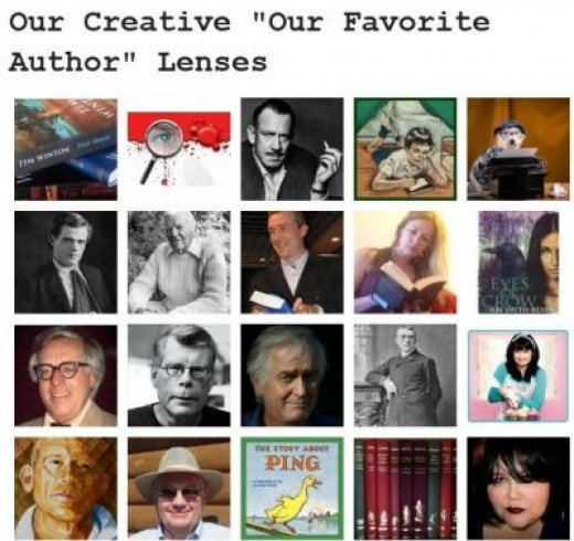 "Featured in the Books Club's 'Our Favorite Authors"" lenses board"