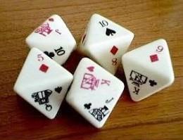 My set of poker dice