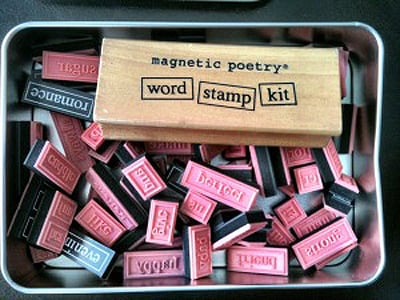 It's not jsut magnetic! use it on paper, stamp words & make your own kit etc
