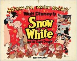 Snow White and Seven Dwarfs original movie poster Disney