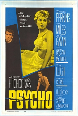 Psycho movie posters original hitchcock