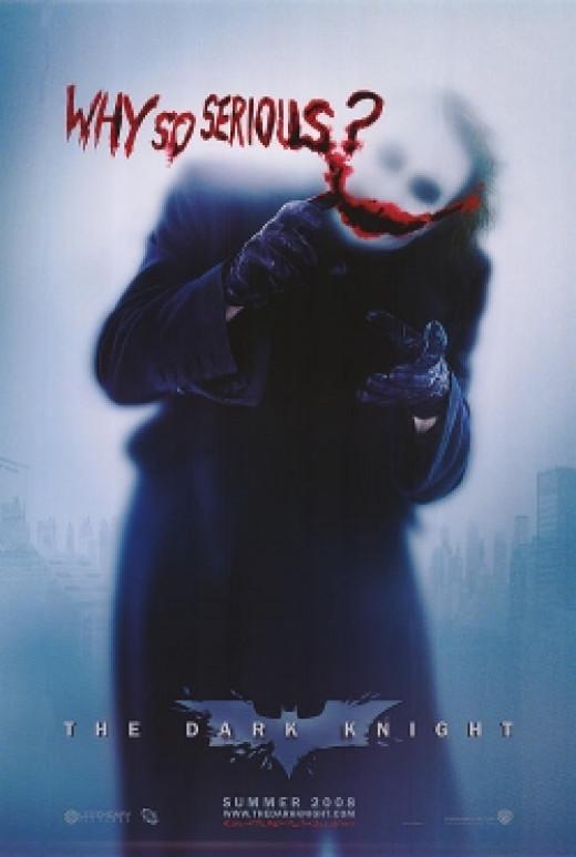 the dark knight movie poster heath ledger as joker