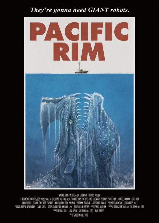 Jaws style Pacific Rim Poster (than goodness the shark wasn't that big!)