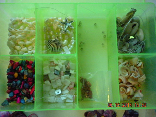 here is a closer look at the assorted beads I used in the first pair and will use some in the 2nd pair I make