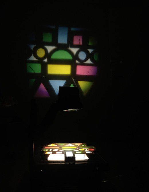 Playing with light on the over head projector