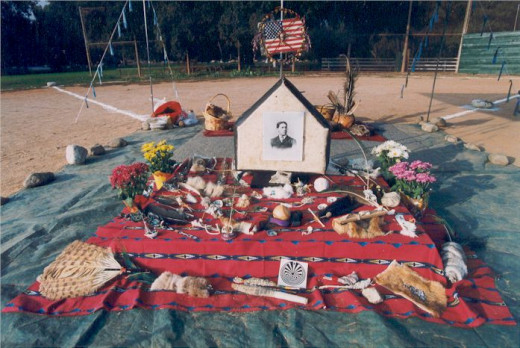 Shrines dedicated to baseball heroes of days gone by.