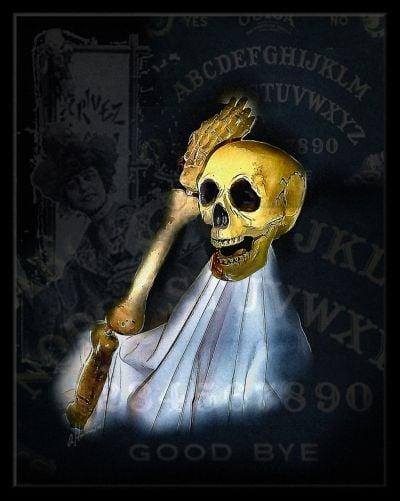 Witchboard WeeGee Board Skeleton Art