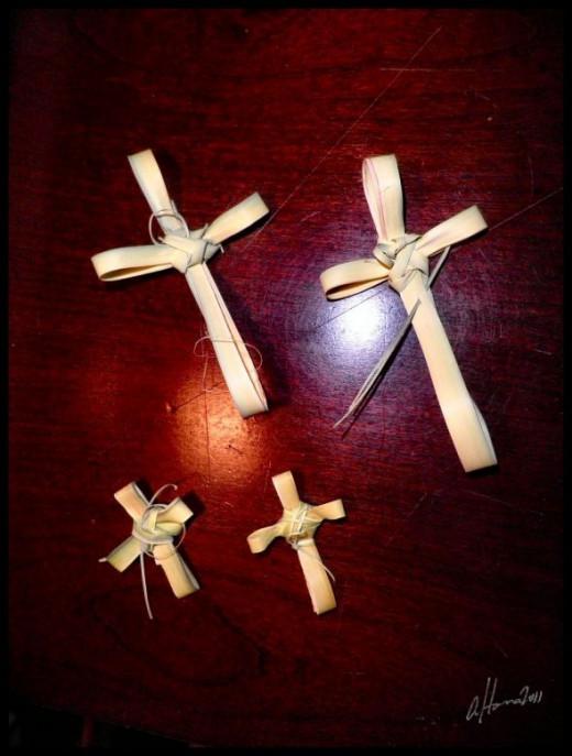 Four Palm Crosses