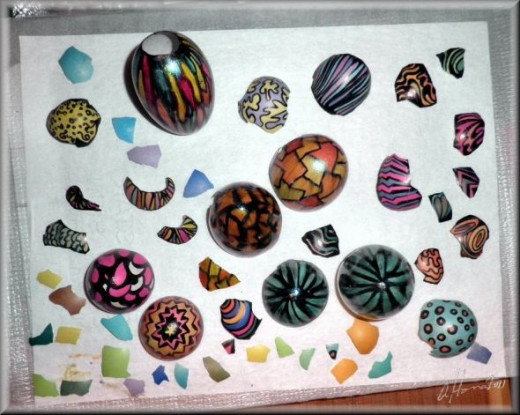 Colored Egg Shells