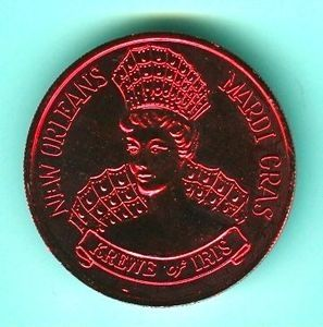 A mardi Gras coin