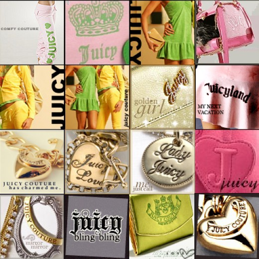 Deck out your Myspace with Juicy Couture Graphics Colllage