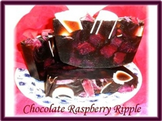Chocolate Raspberry Ripple -- Artisan Glycerin Soap