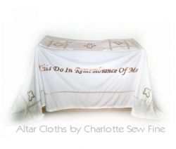 Custom Church Alter Cloths Hand Sewn by Charlotte Reynolds