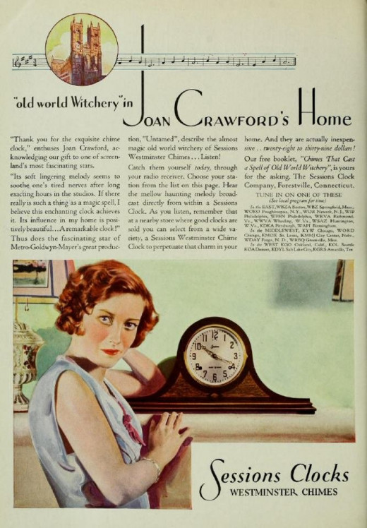 She also sold mantle clocks.