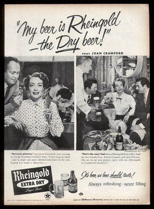 Joan Crawford had an appreciation for Rhingold Beer.