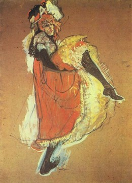 Jane Avril Dancing by Toulouse-Lautrec