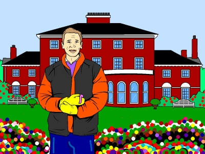 This is an example of the online color page on display at the Julian Assange Coloring Book site.  The online coloring pages are set up like a paint shop with color tools to fill in a line drawing any way you wish.
