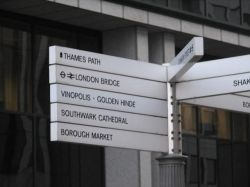 Street Sign in Central London