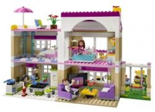 Lego Friends Olivia's House inside view