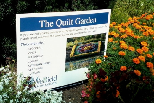 List of flowers in the quilt garden