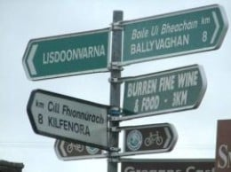 Signs in County Clare Ireland