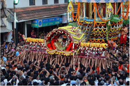 Palanquin held by people