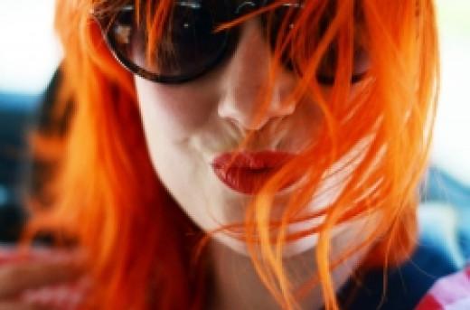 Elsa Billgren (NOT Hayley Williams) with orange hair.