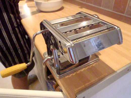 This is my machine clamped to my work surface. Make sure you leave room for the handle to turn freely.