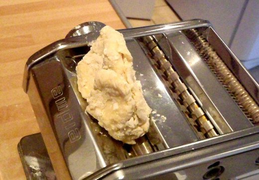 See how rough you can leave the dough? The machine will do all the work for you. No need to knead!