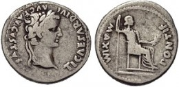 Tiberius, 19 Aug 14 - 16 Mar 37 A.D., Tribute Penny of Matthew 22:20-21
