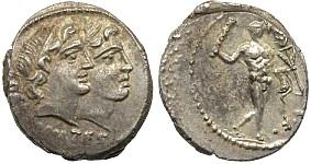 Roman Republic, C. Antius C. f. Restio, 47 B.C. Silver