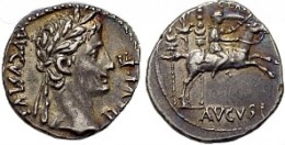 Augustus, 16 January 27 B.C. - 19 August 14 A.D., Caius reverse Silver