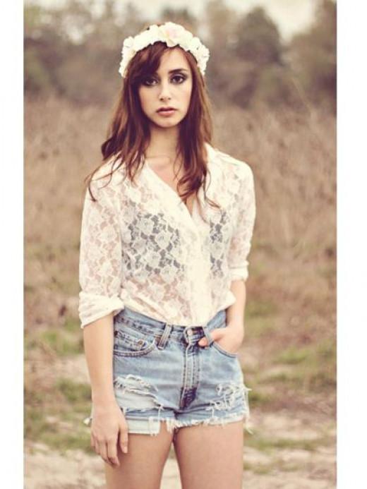 Wear With Frayed Denim Shorts