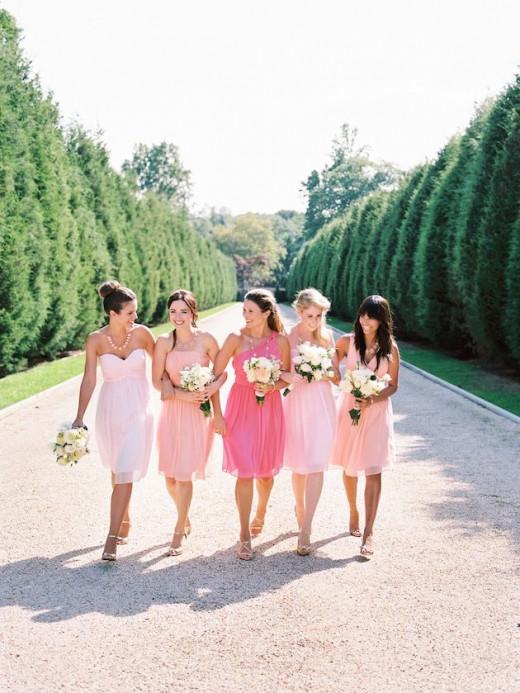 Bridesmaids Dress Trends 2014 - Mis & Match Pink Bridesmaid Dresses