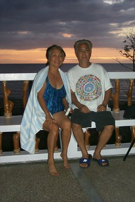 My wife and I at the balcony of our beach house in Boac, Marinduque, 2011