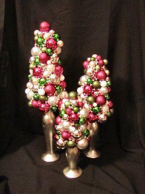 Christmas Centerpieces - Ball Ornament Tree