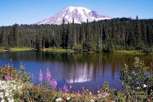 Mt. Rainer, reflection in lake