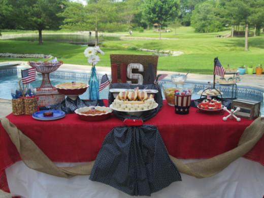 Patriotic Summer Party Buffet