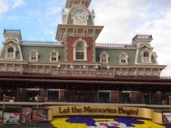 Entrance to Magic Kingdom at Walt Disney World Theme Park