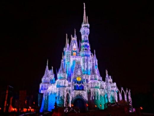 Cinderella's Castle At Night!  Magic Kingdom Park