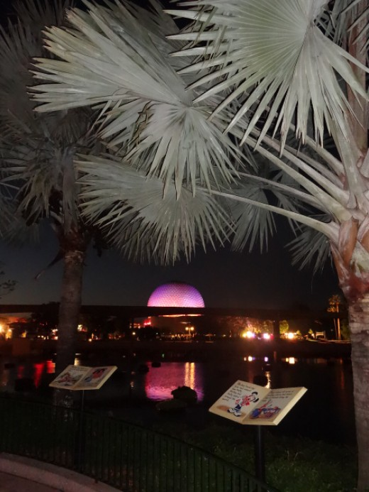 Spaceship Earth (from a distance) in Epcot