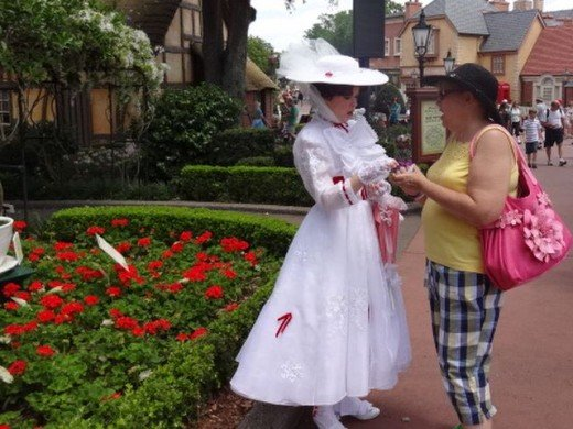My Best Friend, Lucy, with Mary Poppins!  Epcot Theme Park