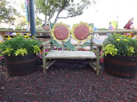 Slow Down… (Bench photographed at Epcot's Flower & Garden Festival)